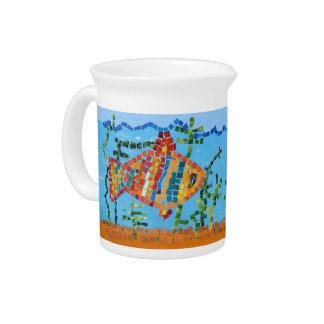 Goldfisch-Mosaik Getränke Pitcher