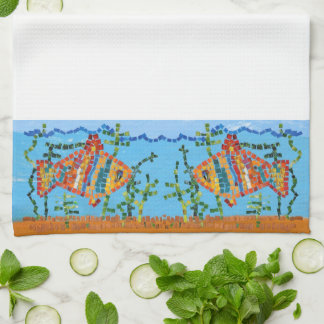Goldfisch-Mosaik Handtuch