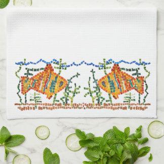 Goldfisch-Mosaik Küchentuch