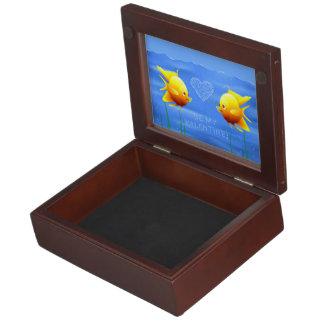 Goldfisch-Paare Erinnerungsdose