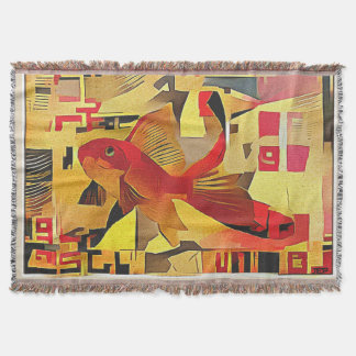 Goldfisch quadratische Wurfs-Decke Decke