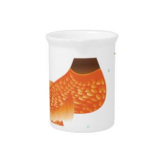 Goldfisch-Schwanz-Meerjungfrau Getränke Pitcher