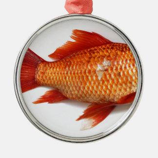 Goldfisch Silbernes Ornament