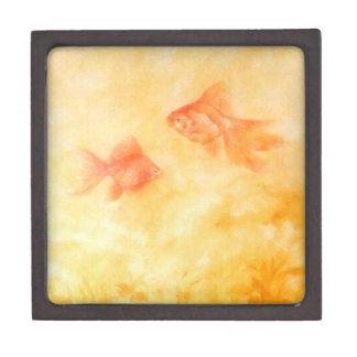 Goldfisch zwei schmuckkiste