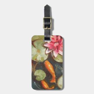 Goldfische Koi Teich-Wasser-Lilien Gepäckanhänger