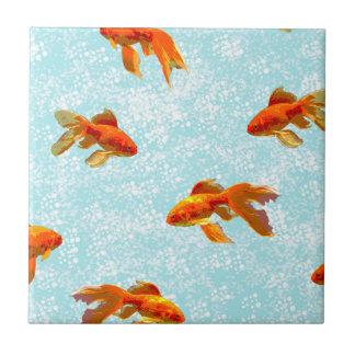 Goldfischmuster Fliese