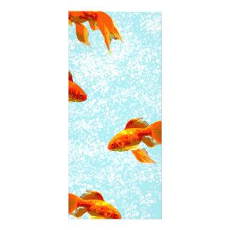 Goldfischmuster Werbekarte