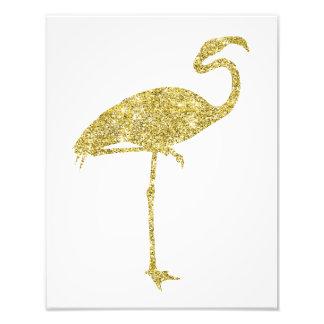 Goldflamingo-Imitat-Glitter-Flamingo-tropischer Fotografie