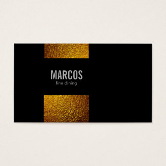 Goldflocken/Schwarzes Visitenkarte