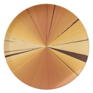 GoldFluchtpunkt-großer Teller