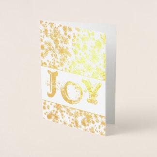 Goldfolie FREUDE Weihnachtsgruß-Karte Folienkarte