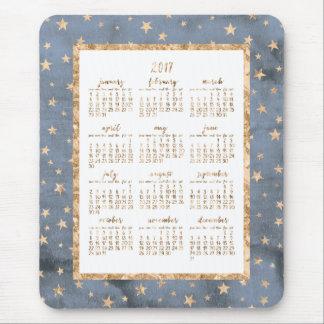 Goldfolie spielt jährliche Kalender-Mausunterlagen Mauspad