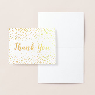 GoldfolieConfetti danken Ihnen Folienkarte