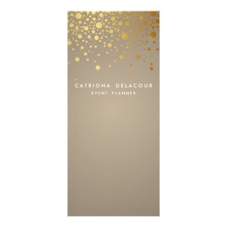 Goldfolieconfetti-moderne Geschäfts-Gestell-Karte Werbekarte