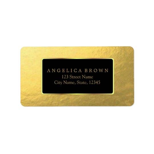 Goldfolien-Adressen-Etikett Adressaufkleber