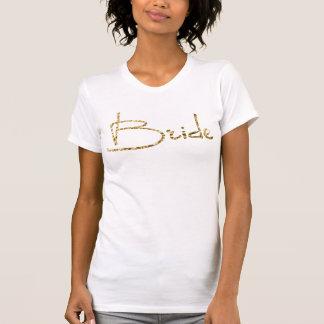 Goldfolien-Junggeselinnen-Abschieds-Shirts - Braut T-Shirt