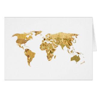 Goldfolien-Karte Karte