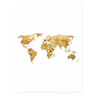 Goldfolien-Karte Postkarte