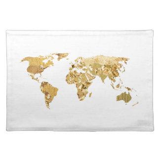 Goldfolien-Karte Tischset