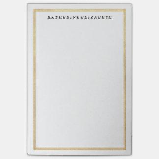 Goldfolien-Kunst-Deko-Grenzpersonalisierte Post-it Klebezettel