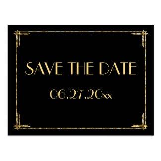 goldfolie save the date postkarten. Black Bedroom Furniture Sets. Home Design Ideas
