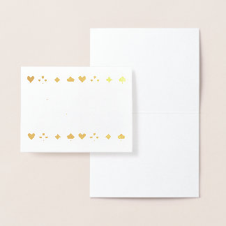 Goldfolien-Las- Vegaskasino-Karten-Anzüge danken Folienkarte