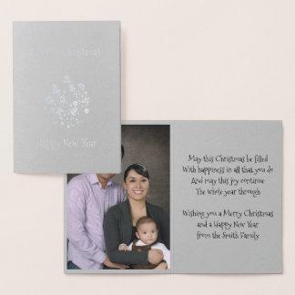 Goldfolien-Retro Weihnachtsverzierungs-Gruß-Karte Folienkarte