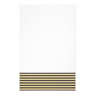 Goldfolien-Schwarzes Stripes Muster Individuelles Büropapier