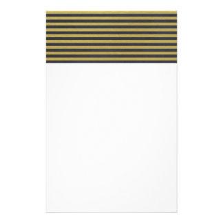 Goldfolien-Schwarzes Stripes Muster Bedrucktes Papier