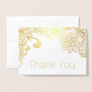 Goldfolien-Spitze-Grenze danken Ihnen zu kardieren Folienkarte