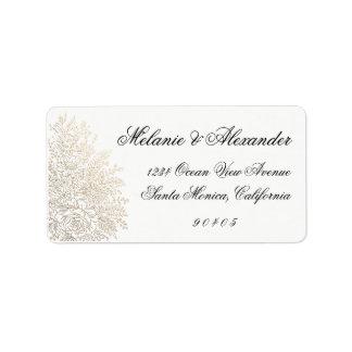 Goldfolien-Vintage Spitze-Adressen-Etiketten, Adressaufkleber