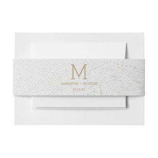 Goldfolien-Weltkarten-Hochzeit in Einladungsbanderole