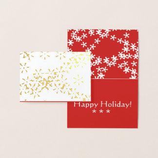 Goldfolien-Winter-Schneeflocke-Weihnachtsgrußkarte Folienkarte