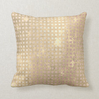 GoldFoxier Rosen-Goldrosa-metallische Grill-Linien Kissen