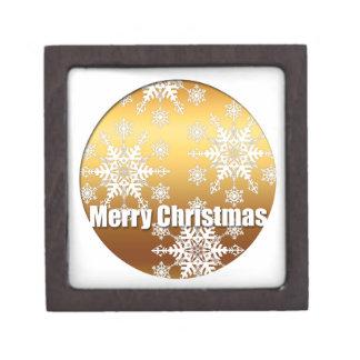 Goldfrohe Weihnacht-Schneeflocke-Geschenkboxen 1 Schachtel