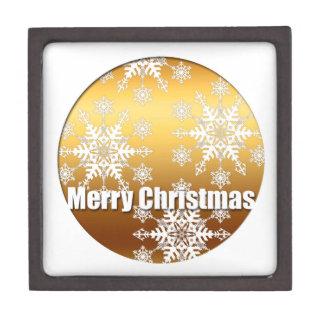 Goldfrohe Weihnacht-Schneeflocke-Geschenkboxen 2 Kiste
