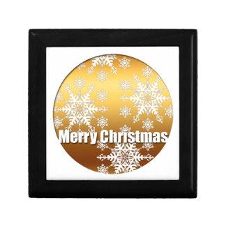 Goldfrohe Weihnacht-Schneeflocke-Geschenkboxen 3 Erinnerungskiste