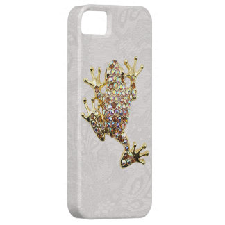 Goldfrosch-Juwel-Foto-Paisley-Spitze iPhone 5 Fall iPhone 5 Schutzhülle