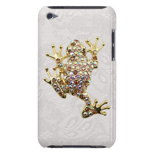 Goldfrosch-Juwel-Foto-Paisley-Spitzeipod-Touch-Fal iPod Touch Cover