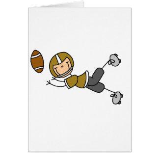 Goldfußball-Spieler-T-Shirts und Geschenke Karte