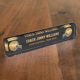 Goldfußball-Trainer Schreibtischplakette