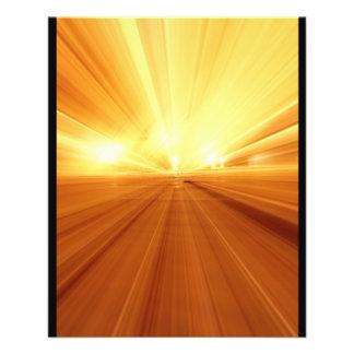 Goldgelb-orangee abstrakte Summen-Unschärfe 11,4 X 14,2 Cm Flyer