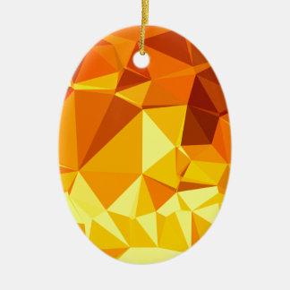 Goldgelbe Bananen-abstrakter niedriger Keramik Ornament