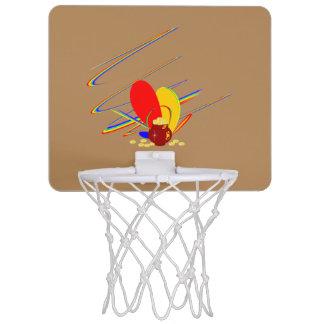Goldgeld-ANG-Magieregenbogen Mini Basketball Ringe