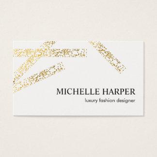 Goldgesprenkelte Streifen künstlerisch Visitenkarte