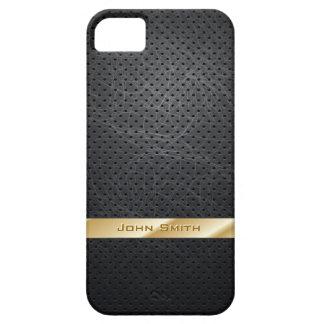 Goldgestreifter dunkler lederner iPhone 5 Kasten iPhone 5 Schutzhüllen