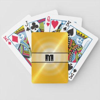 Goldglänzendes Edelstahl-Metall 2 Pokerkarten