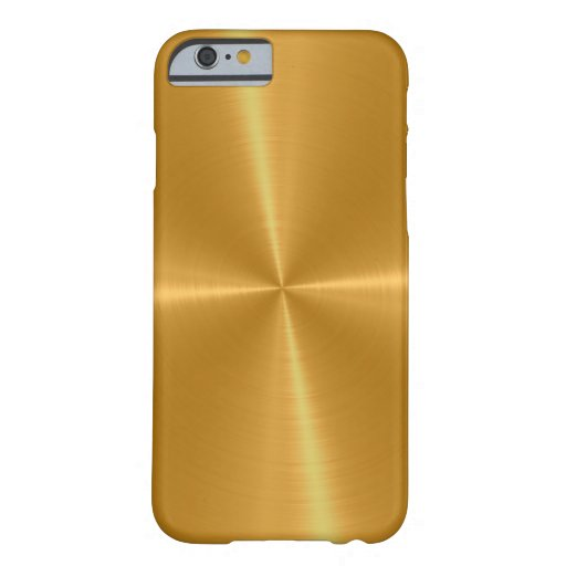 Goldglänzendes Edelstahl-Metall Barely There iPhone 6 Hülle