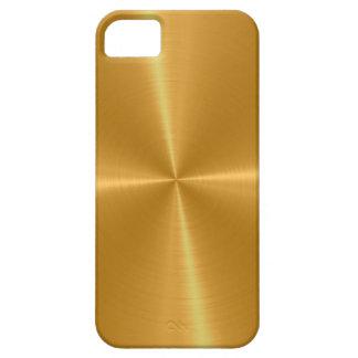 Goldglänzendes Edelstahl-Metall iPhone 5 Hüllen