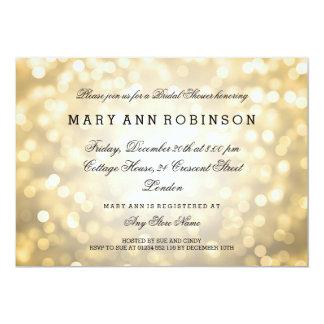 GoldGlitter beleuchtet elegantes Brautparty 12,7 X 17,8 Cm Einladungskarte